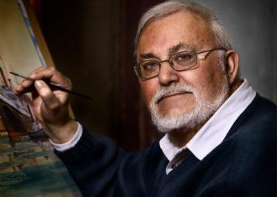 artist man portrait at port adelaide