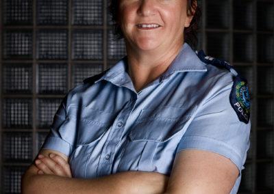 lady police officer portrait at port adelaide