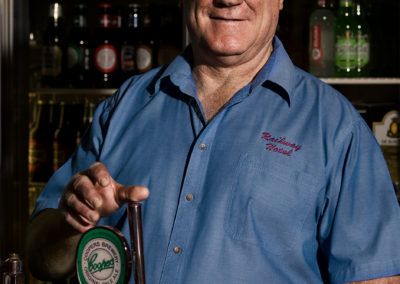 barman portrait at port adelaide pouring been