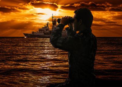 Australian Navy at Sea photo compositing