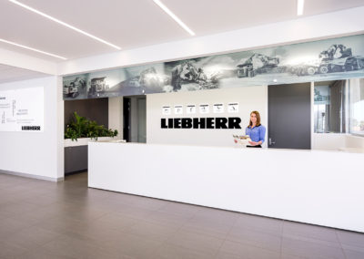 Corporate Receptionist Portrait, Liebherr Australia
